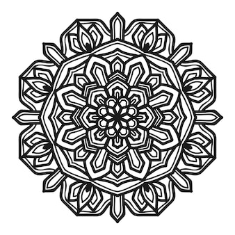 Mandala flower illustration vector design