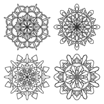 Mandala flower illustration
