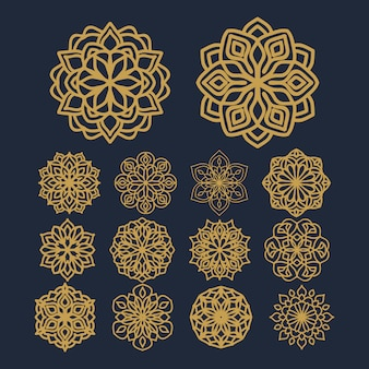 Mandala flower pattern illustration on pack vector