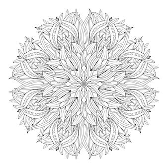 Mandala flower Vintage decorative elements.