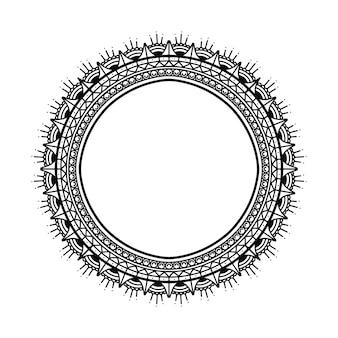 Mandala frame coloring book   label