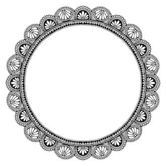 Mandala frame, oriental therapy