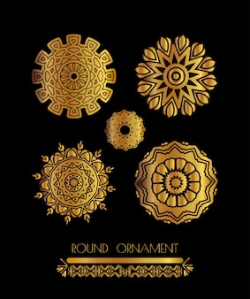 Mandala golden art
