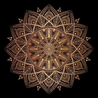 Mandala on golden color