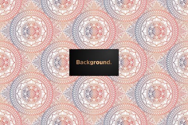 Mandala gradient seamless pattern design