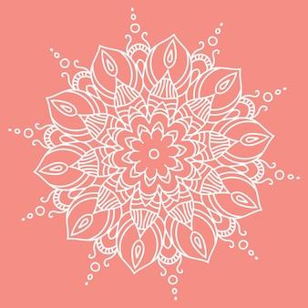 マンダラ。あなたのデザインのための手描きの民族装飾要素ベクトルイラストeps10。