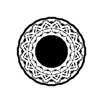 만다라, 매우 상세한 zentangle에서 영감을 받은 일러스트레이션, 흑백