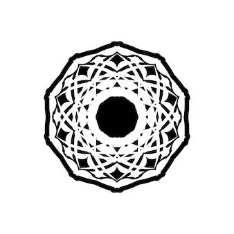 Mandala, highly detailed zentangle inspired illustration, black and white
