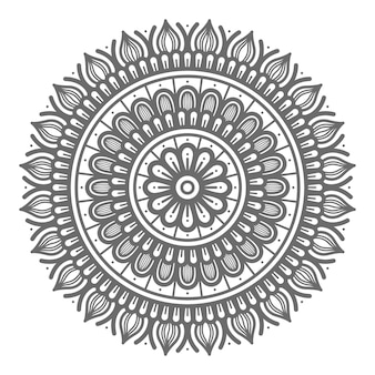 Mandala illustration for abstract and decorative concept in circular style