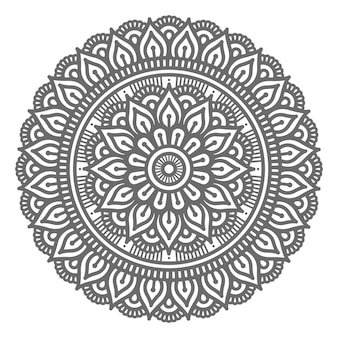 Mandala illustration in circular style for abstract and decorative concept