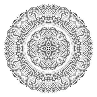 Mandala illustration in circular style
