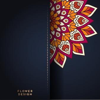 Mandala illustration in flower design