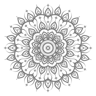 Mandala illustration with circle style for abstract and decorative background