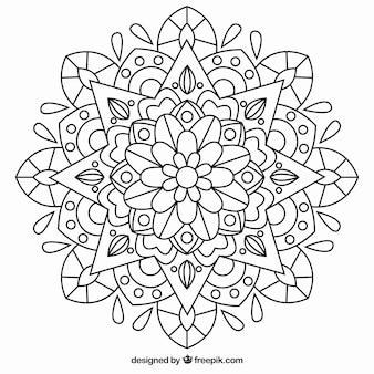 Мандала в черном цвете