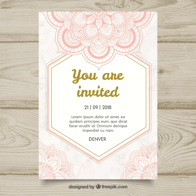 Free Mandala Invitation Template SVG DXF EPS PNG
