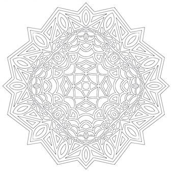 Mandala line art for coloring