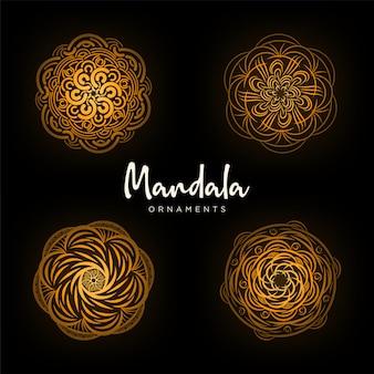 マンダラ線画飾りコレクション