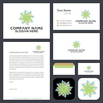 Mandala logo and business card premium