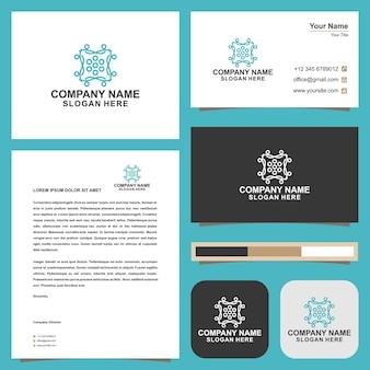 Mandala logo and business card