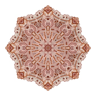 Mandala medallion yoga meditation  decorative element.