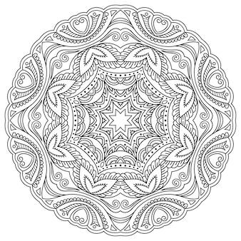 マンダラ、一時的な刺青。エスニックオリエンタルスタイルの装飾飾り。