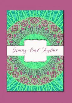 Mandala oriental greeting card