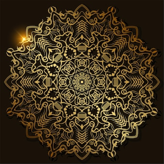 マンダラ飾りのデザイン。