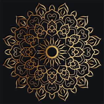 Mandala ornament or flower background  golden color.