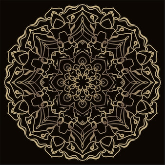 Mandala ornament or flower background .