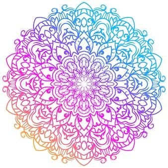 マンダラ飾りや花の背景デザイン。