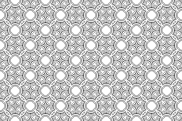 만다라 장식 패턴. 빈티지 장식 요소