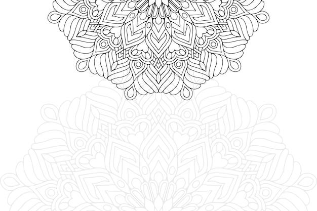 マンダラ飾りパターン。ヴィンテージの装飾的な要素
