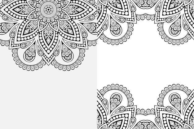 Mandala ornament . vintage decorative elements background