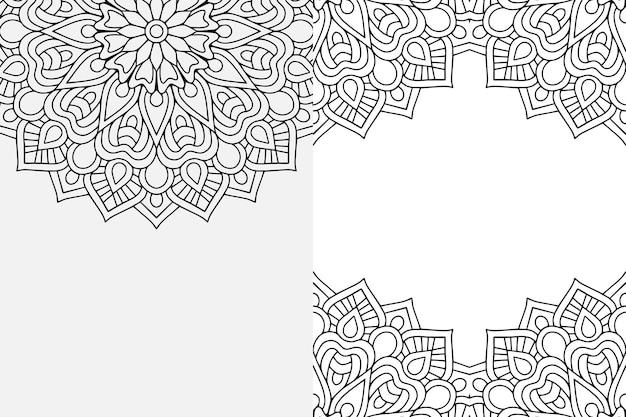 Мандала орнамент. винтажные декоративные элементы фона