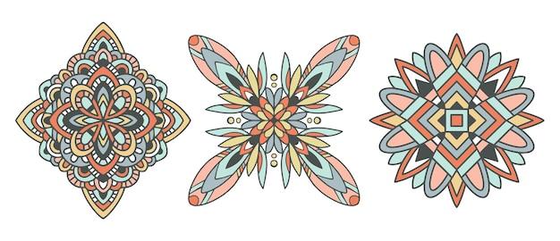 만다라 장식. 빈티지 장식 요소. 손으로 그린 아랍어 모티브.