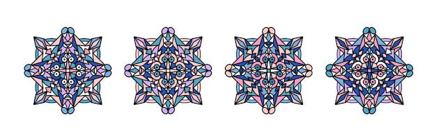 Мандала орнамент. винтажные декоративные элементы. рисованной арабские мотивы.