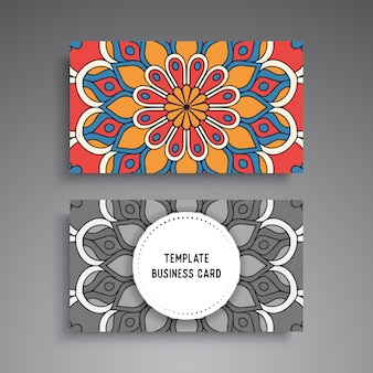 Mandala ornamental business card template