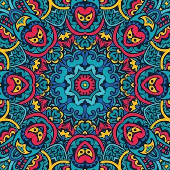 マンダラ装飾用シームレスパターン