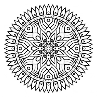 Mandala, outline, without color