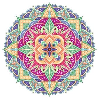 Мандала пастельного цвета для печати или дизайна панно