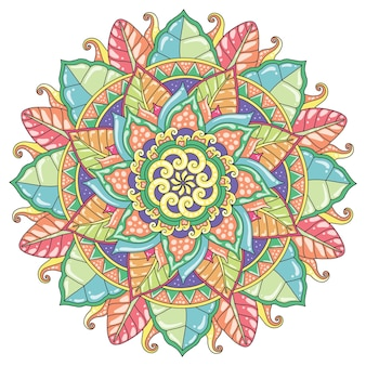 Mandala pastel color for print or mural design