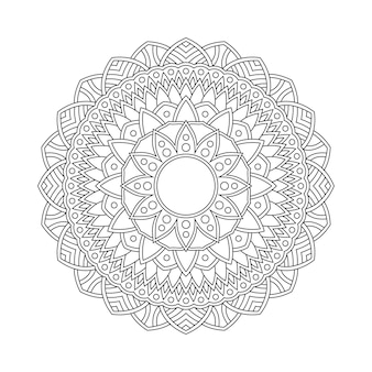 Mandala pattern coloring page book