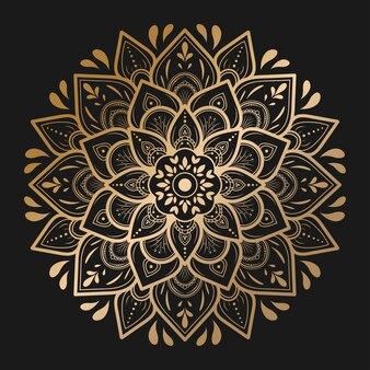 손으로 그린 만다라 패턴 디자인, 벡터 만다라 동양 패턴, 꽃잎 꽃이 있는 독특한 디자인. 페이지 로고 책에 대한 개념 휴식 및 명상 사용