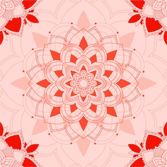 Mandala pattern on pink background