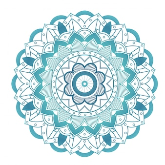 Mandala pattern on white