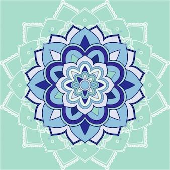 Mandala patterns on blue