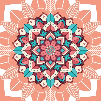 Mandala patterns on brown background
