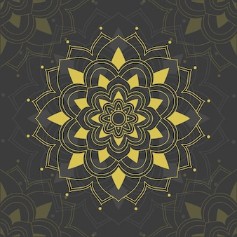 Mandala patterns on gray background