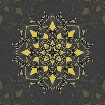 Mandala patterns on gray background
