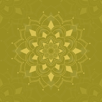 Mandala patterns on green